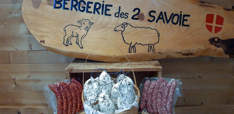 Les saucisses de porc et le saucisson de mouton et porc