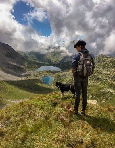 Le berger et son chien aux Contamines Montjoie