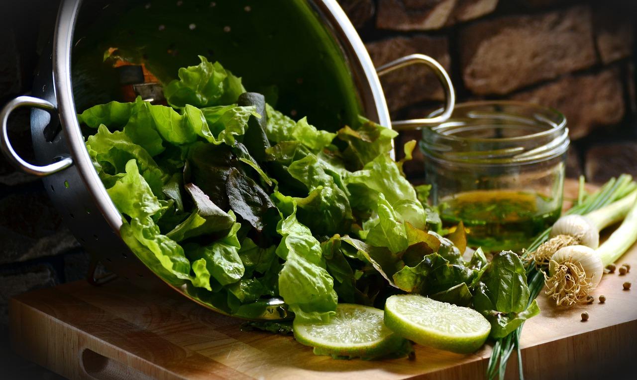 Salade avec fromage de Brebis